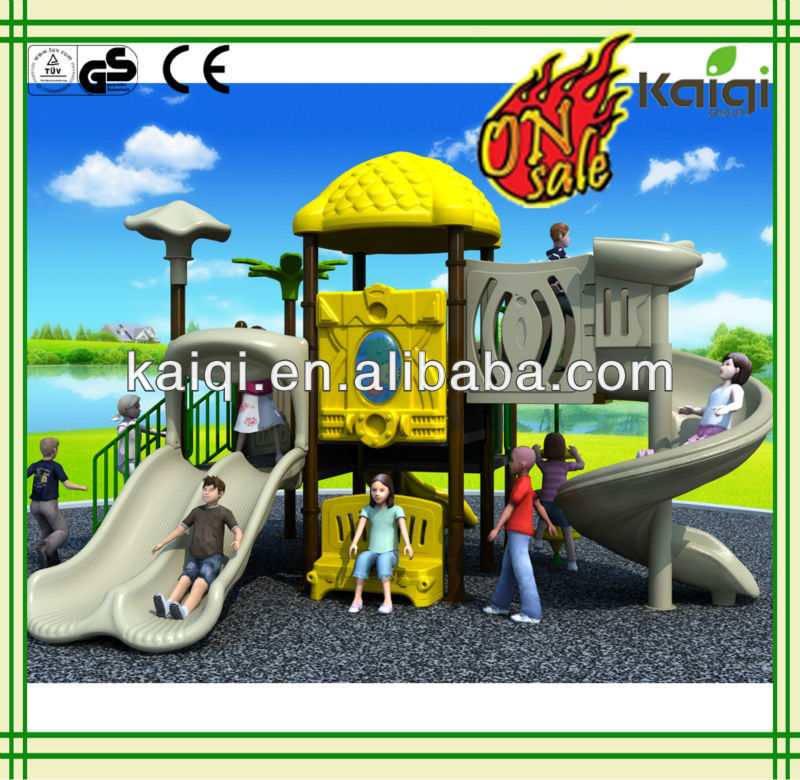 outdoor playground on sale ,with double slide and spiral slide