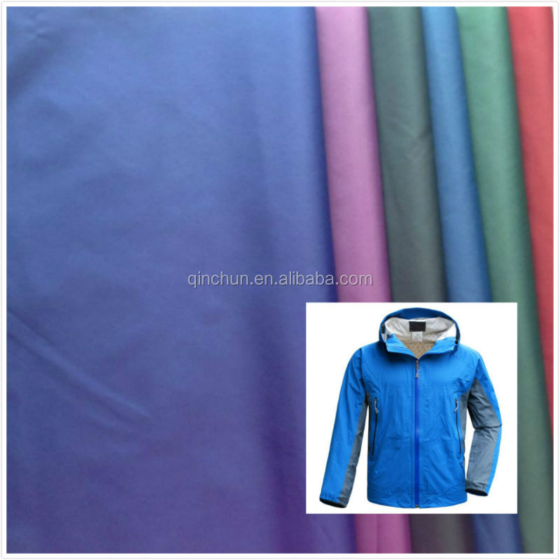 100% NYLON 210T TAFFETA WITH WATERPROOF AND PU COATING
