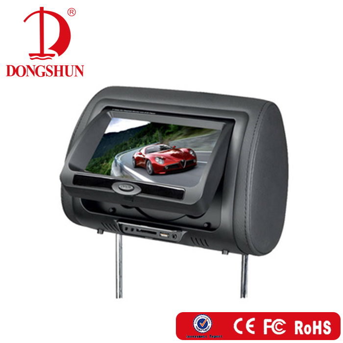 Hot selling 7 inch wireless game headrest monitor for mercedes