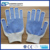 Anti Slip Natural White Cotton Liner Single Blue PVC Dotted Cotton Glove