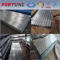 hot rolled galvanized corrugated steel trapezoid sheet roof wave tiles