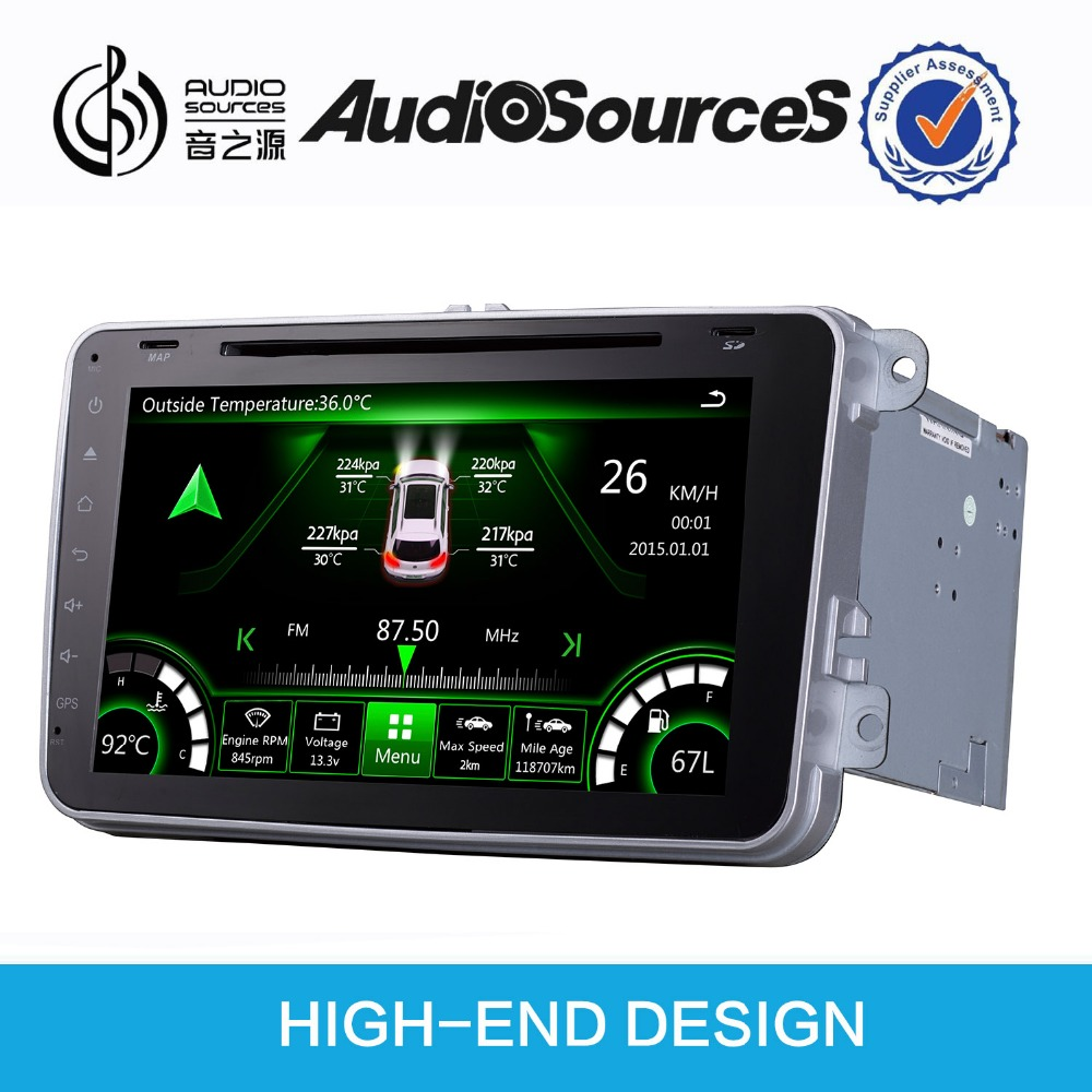 "2 din 7"" Car multimedia player for skoda superb car GPS navigation with bluetooth can bus green interface"