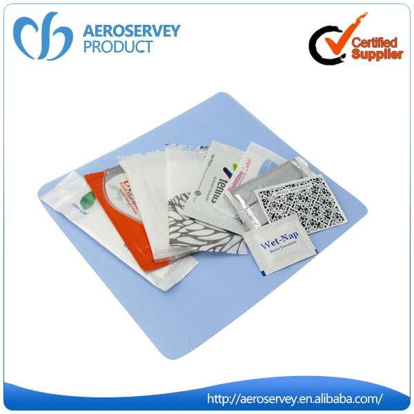 Wholesale custom inflight catering antiseptic restaurant individually wrapped wet wipes
