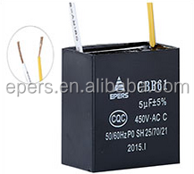 EPERS fan capacitor ac capacitor ac run capacitor 5uf 450VAC wire square box type
