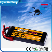7.4v~22.2v 3500mah helicopter rc battery replacement for rc model, orbit car Engineering Truck