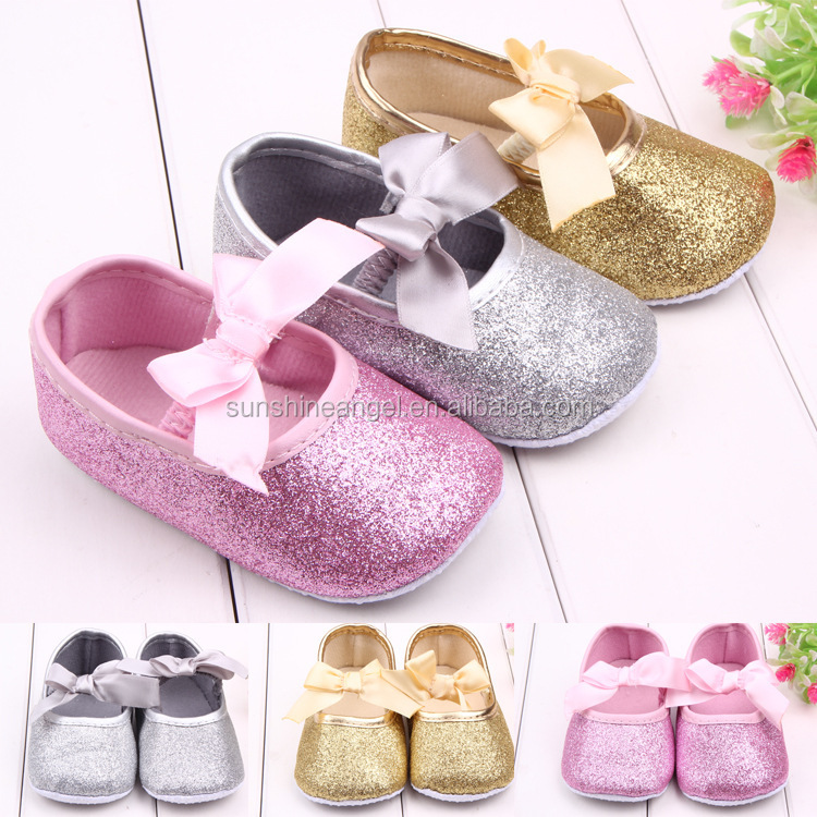 Wholesale New Style Bright First Walker Infant Baby Girl Toddler Shoes