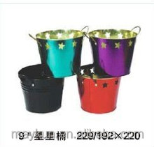 wholesales 9 inch round ice tin bucket