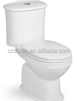 Fashion Design Sanitary Ware Washdown Two Piece Ceramic WC Girls Toilet