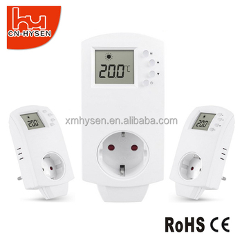 Plug in digital room heating panel thermostat outlet