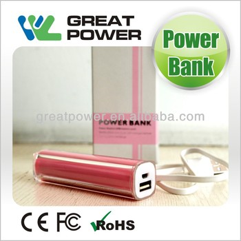 2014 new design 2600mAh mini power bank CE&ROHS