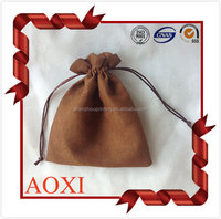 High-end wholesale custom logo printed velvet pouch velour drawstring bag