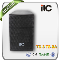 ITC TS-8 200W 8 ohm Two Way Disco Speakers 8""