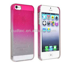 2013 New Brand Clear Hot Pink Waterdrop Raindrop Hard Case Compatible for iphone 5