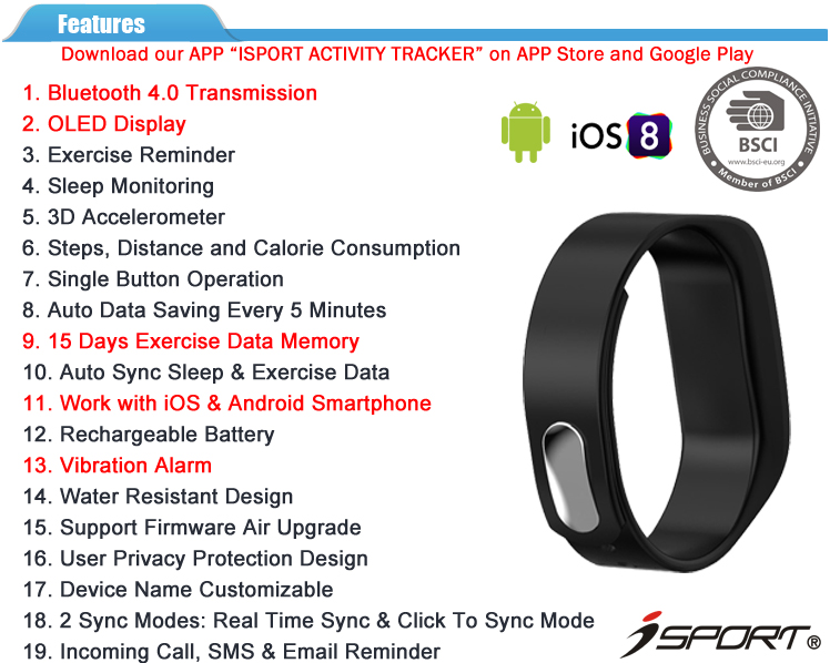 Bluetooth 4.0 Wireless Activity Sleep Tracker Bluetooth Smart Bracelet Manual