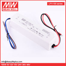 Mean Well 100W 12V Single Output Constant Voltage Switching Power Supply LED Driver LPV-100-12 IP67