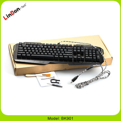 Professional USB Wired Keyboard Backlit Multimedia LED Gaming Keyboard Computer Mechanical USB Keyboard Wholesale
