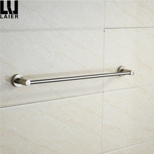 Wall mounted brush nickel finishing bathroom zinc material glass shower door towel bars