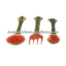 decorative ceramic spoon and fork