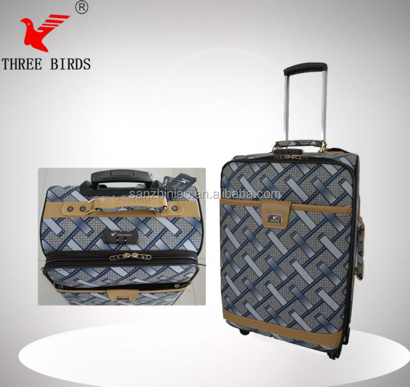 2014 fashion design good printed traveling bag, travel luggage bags for kids, classic travel bag with trolley for sale