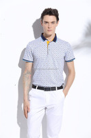 100% cotton fabric Printing Polo men's t shirt from china