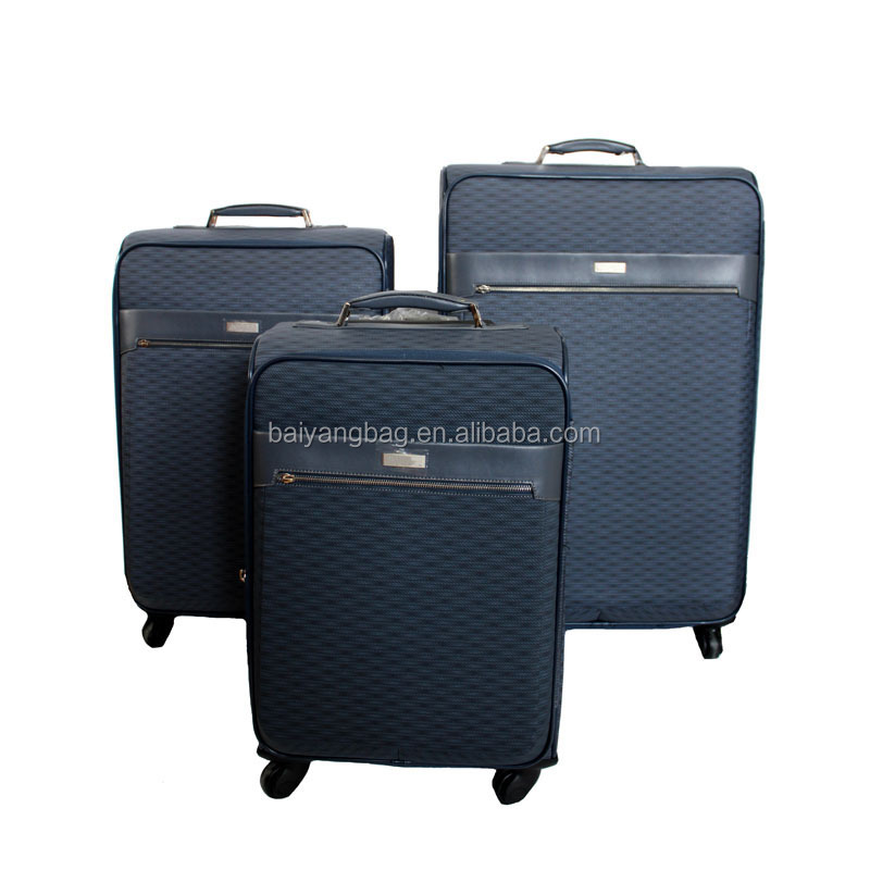 4 wheels 3pcs travel luggage bags trolley suitcase luggage set