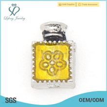 New Fashion Design Perfume bottles floating charms for Living Memory Glass Floating Lockets