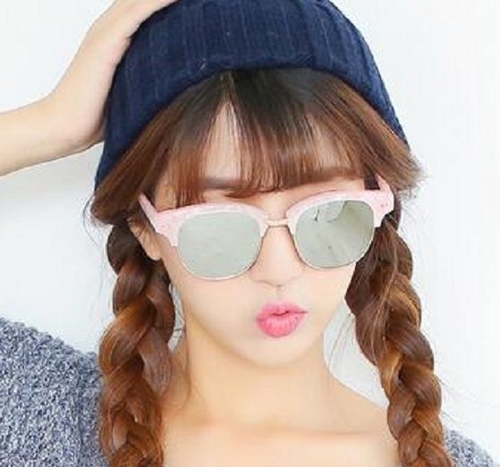 Top quality retro vintage style half colorful pink frame for beautiful cute women with OEM custom Sunglasses eyeglass eyewear