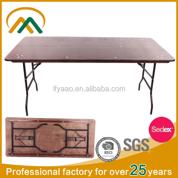 Wholesale wooden table folding table folding banquet table KP-BT004