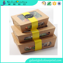 ECO Kraft Window Salad Box ECO-Friendly Take out pie Boxes