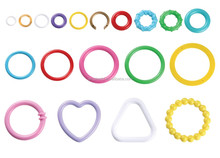 High quality safety toy parts plastic links funny round plastic ring for baby toy