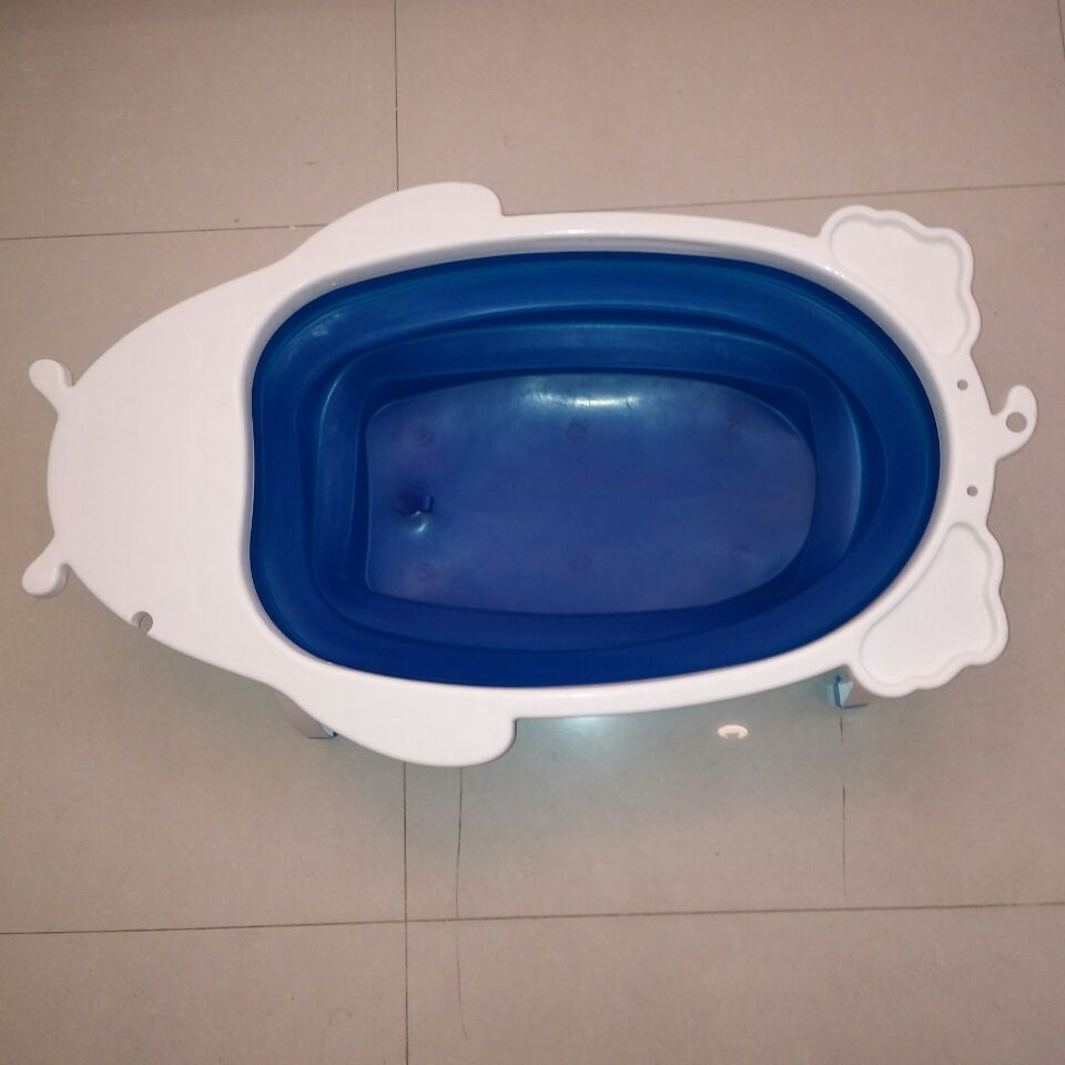 Flexible child bath tub for wash baby body