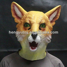 Hot-selling Latex Animal Halloween Maskas Realistic Rubber Fox Mask High Quality Funny Full Head Latex Party Mask