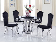 On sale stock Black glass restaurant round dinning table AH6667-2