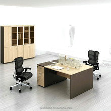 Wooden staff workstation desk office furniture 2 person office desk