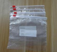 Waterproof slider zip lock plastic bags for hair extensions packaging, mat hair packing slider plastic bags