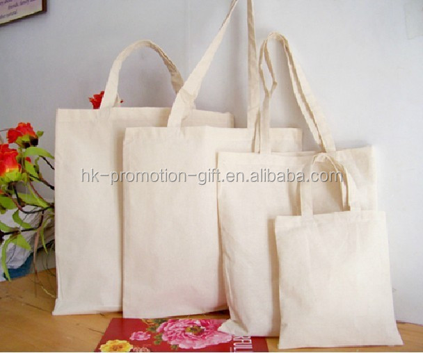 Clear cotton tote bag with handle and fair trade