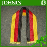 Fast shipping promotional printed european cup satin scarf