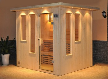 Indoor sauna room with glass door and window buy indoor - Como hacer una sauna ...