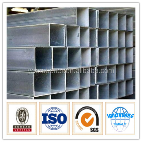 square steel pipe / tubes hollow section galvanzied / black annealing with low price