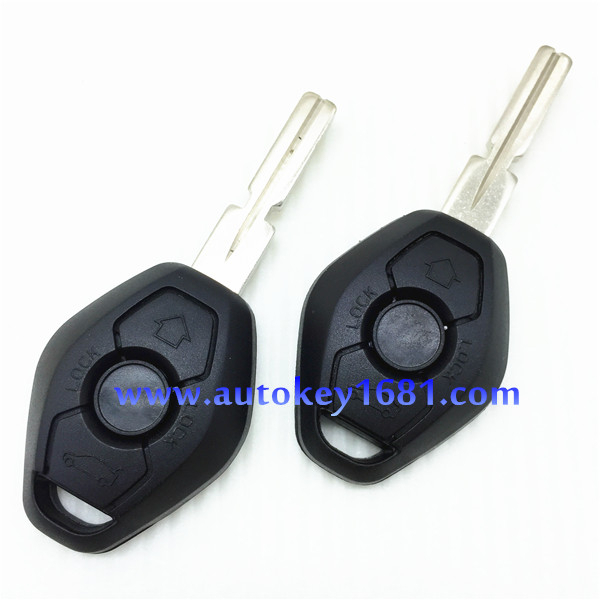 car keys for BMW EWS 3button remote control 315mhz//433mhz with ID7935 transponder chip+uncut blade