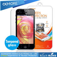 Hot sell products anti-scratch Tempred glass screen protector for iphone 5