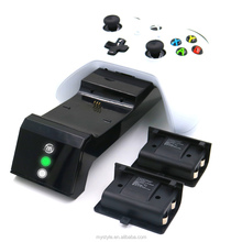 3 in 1 Dual Charger Charging Dock for Xbox One Slim/Xbox one Elite/ Xbox one Controller With 2 x 600mAh Rechargeable Batteries