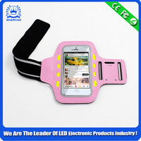 Popular Mobile Phone Led Fashion velcro armbands For Outdoor Sports