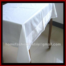 100%cotton laundry tablecloth&cotton laundry table cloth&vat dyed solid color satin band tablecloth