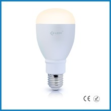 Led light factory released smart phone control Bluetooth 4.0 enabled music flashing RGBW Bluetooth led bulb light 9W
