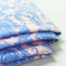 Wholesale cheap custom flower pattern printing fabric cotton twill