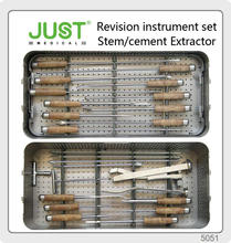 JUST Revision THA Instrument Stem Cement Extractor modular bipolar hip prosthesis