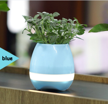 Multi - functional intelligent music flower pots creative bluetooth flower pots plant audio charging colorful lights speaker