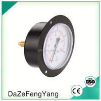 Alibaba China Standard General Axial Bourdon Tube Steel Case Manometer