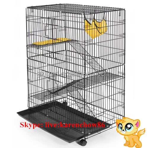 Factory Price Wholesale Outdoor Indoor Folding Big Large Metal Pet Cat Cage